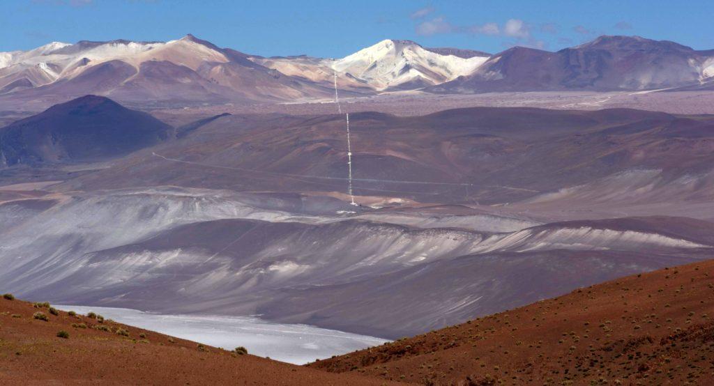 Mina la Casualidad en bas et Mina Julia en haut, 5240m, Province de Salta, Argentine