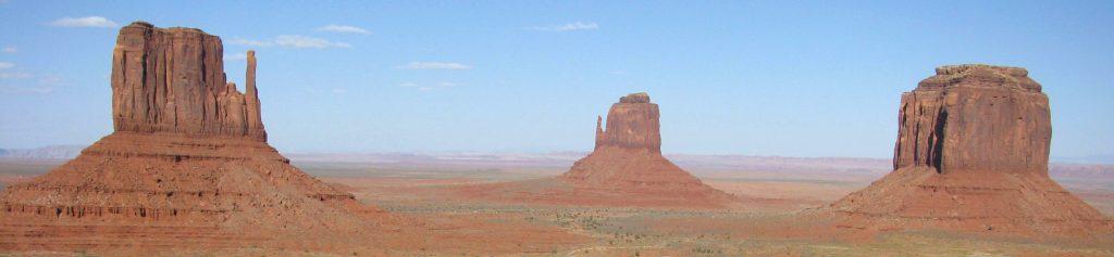 West Mitten, East Mitten et Merrick Buttes, Monument Valley, Utah, Etats Unis