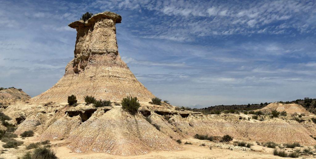 Tozal Solitario, Désert de Monegros, Aragon, Espagne